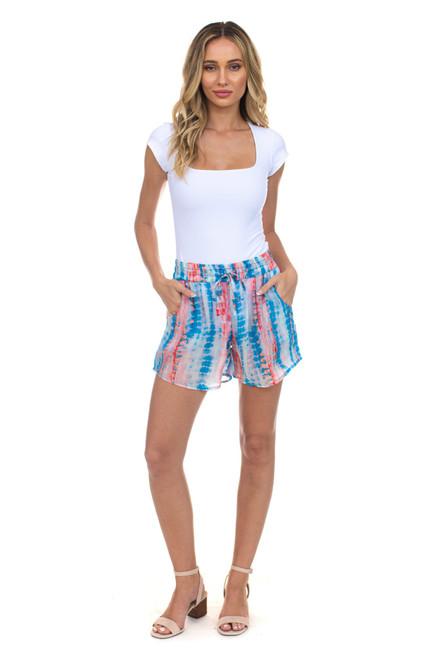 "Tolani Silk ""Maria"" Shorts~21020-Lagoon"