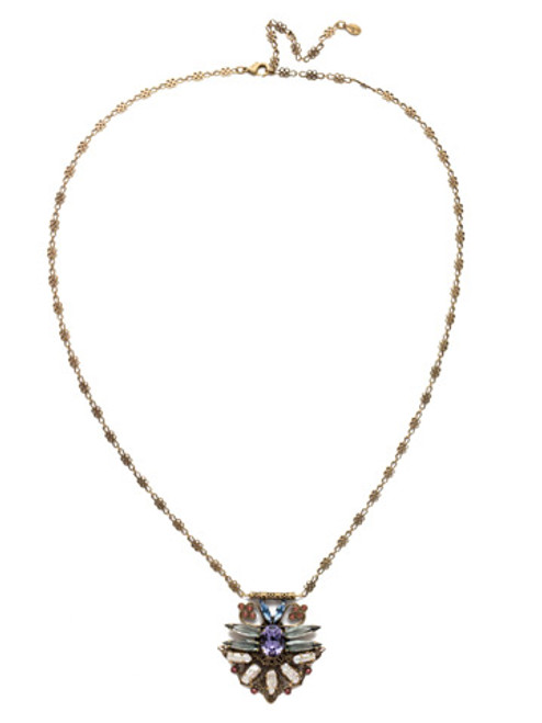 Sorrelli Bohemian Bright - Amalia Crystal Pendant Necklace~ NEC7AGBHB