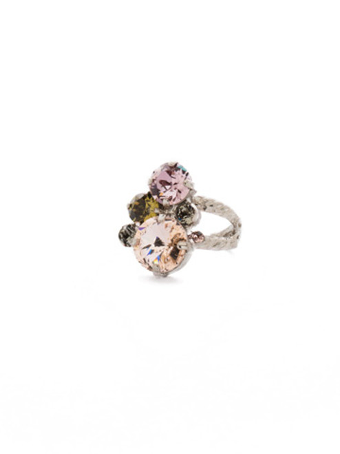 ARMY GIRL- Crystal Assorted Rounds Ring by Sorrelli~ RDB11ASAG