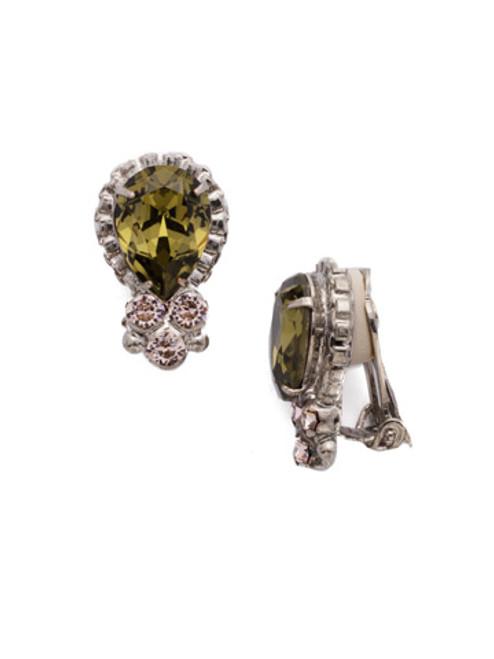 ARMY GIRL- One Of A Kind Crystal Clip Earrings by Sorrelli~ EDN56CASAG