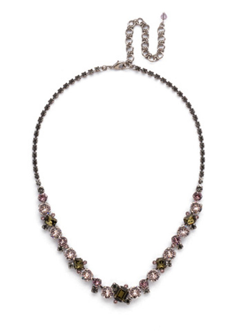 ARMY GIRL -Sophisticated Tennis Necklace by Sorrelli~ NDK17ASAG