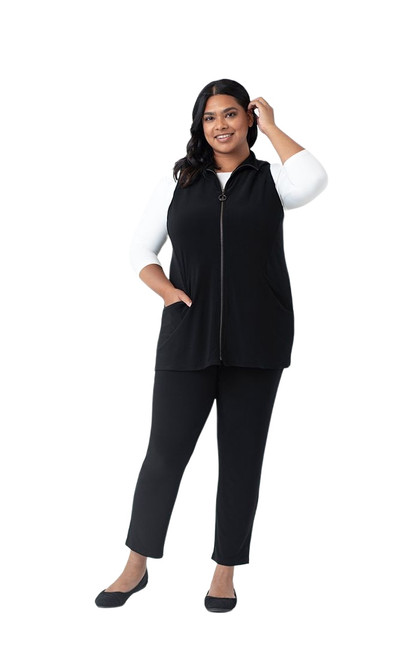 Motion Vest by Sympli (Plus Size)~21190G-BLACK