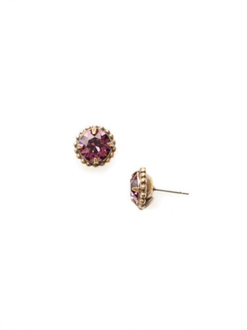 Sorrelli AMETHYST- Simpicity Stud Earrings~ EBY38AGAM