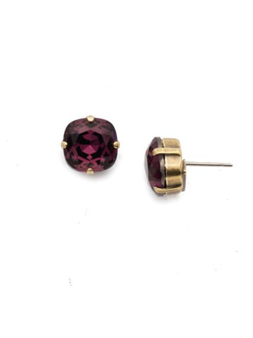 Sorrelli AMETHYST- Halcyon Stud Earrings~ EDH25AGAM