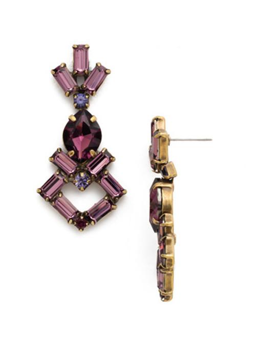 Sorrelli AMETHYST- Artisanal Statement Earrings~ EDK42AGAM