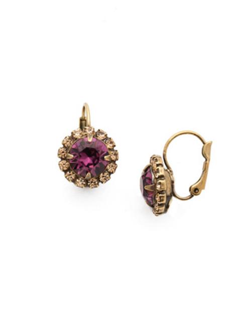 Sorrelli AMETHYST- Haute Halo Dangle Earrings~ EDL10AGAML