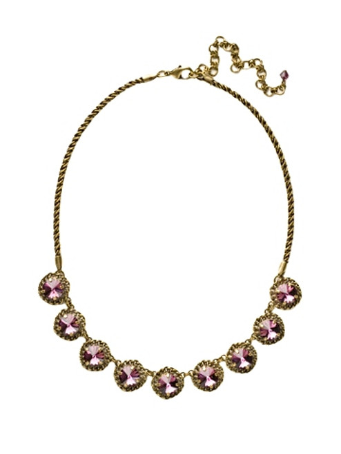 Sorrelli AMETHYST- Roped In Statement Necklace ~ NCN1AGAM