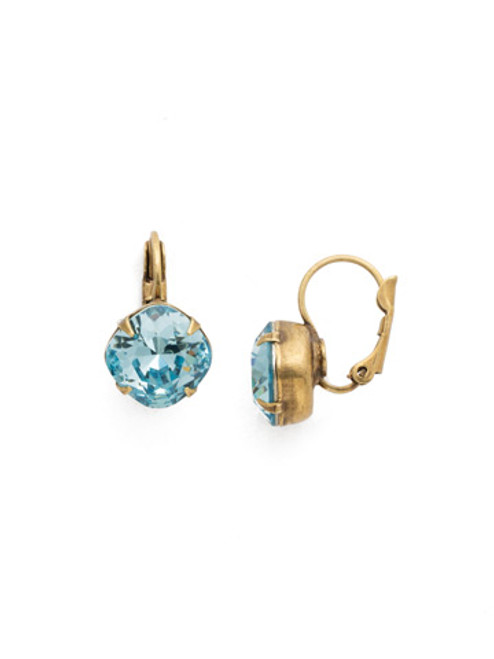Sorrelli Essentials~ Aquamarine- Cushion Cut Dangle Earrings~ EDL12AGAQU
