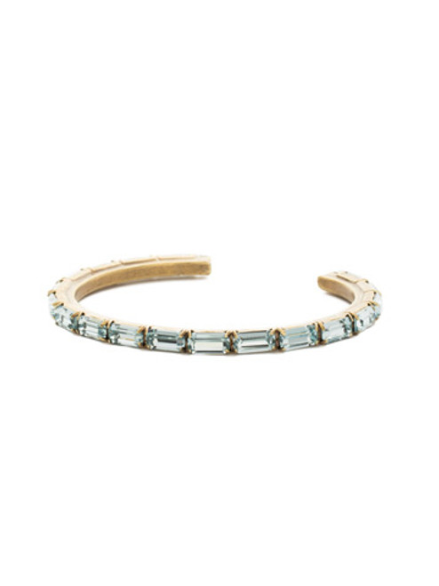 Sorrelli Essentials~ Aquamarine- Brilliant Baguette Cuff Bracelet~ BDK49AGAQU