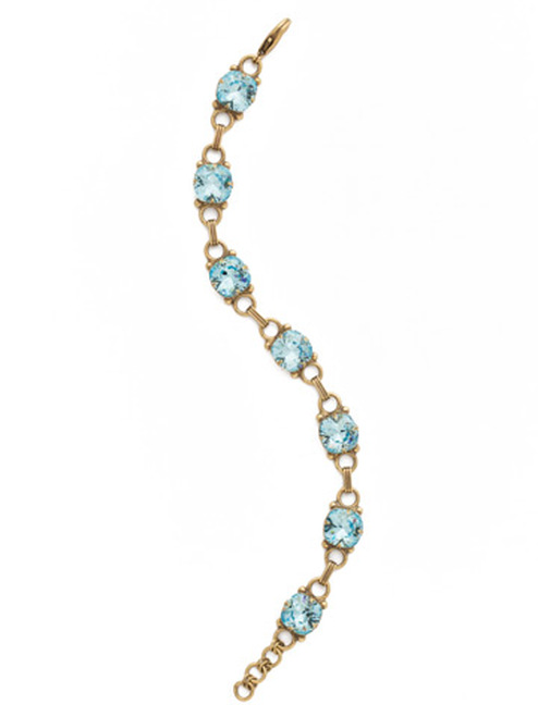 Sorrelli Essentials~ Aquamarine- Eyelet Line Tennis Bracelet~ BDN16AGAQU