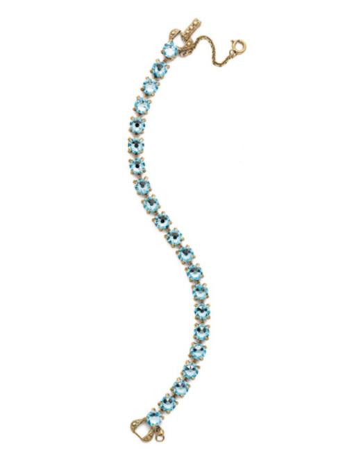 Sorrelli Essentials~ Aquamarine- Repeating Round Crystal Tennis Bracelet~ BCZ36AGAQU