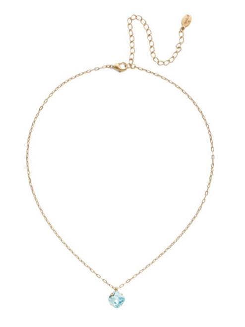 Sorrelli Essentials~ Aquamarine- Siren Pendant Necklace~ NEP22AGAQU