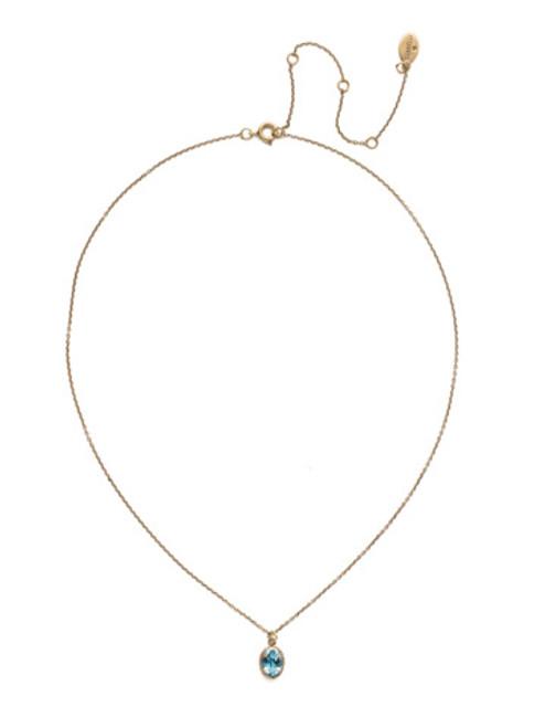 Sorrelli Essentials~ Aquamarine- Maisie Pendant Necklace~ NEF49AGAQU