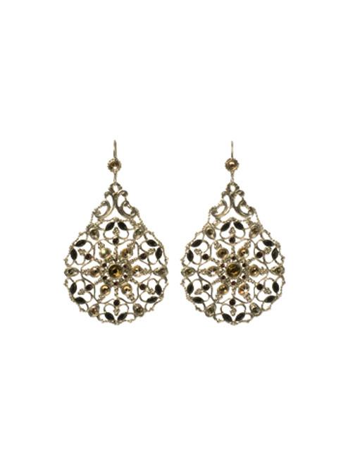 Sorrelli AFTER MIDNIGHT- Crystal Encrusted Filigree Statement Earrings~ ECR105ASAFM