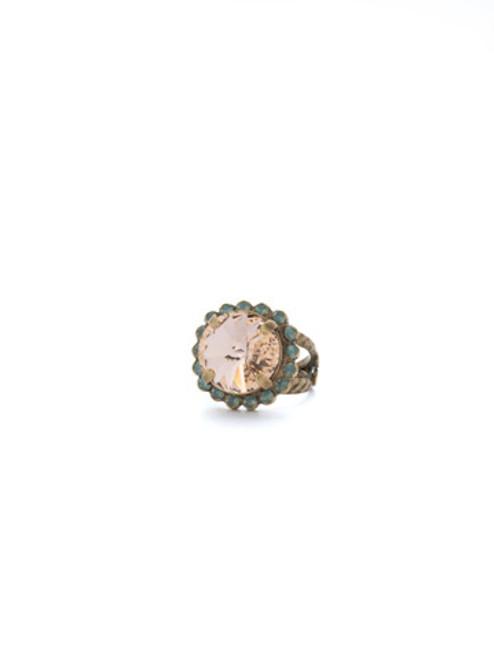 SORRELLI APRICOT AGATE- Round Cut Cocktail Ring ~ RCR60AGAP