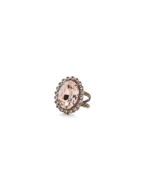 SORRELLI APRICOT AGATE- Glamorous Oval Cut Cocktail Ring ~ RBT68AGAP