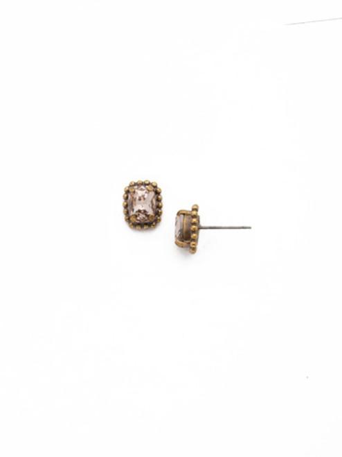 SORRELLI APRICOT AGATE- Mini Emerald Embellished Post Earrings~ EDH41AGAP
