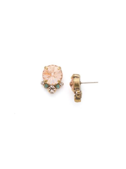 SORRELLI APRICOT AGATE- Regal Rounds Stud Earrings~ EDH98AGAP