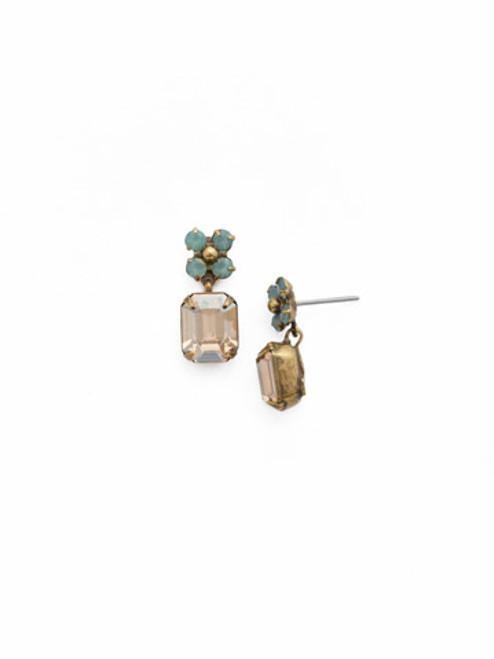 SORRELLI APRICOT AGATE- One Of A Kind Drop Dangle Earrings~ EDK1AGAP