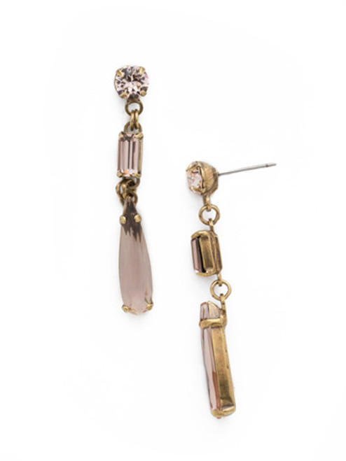SORRELLI APRICOT AGATE- One Of A Kind Linear Earrings~ EDN42AGAP