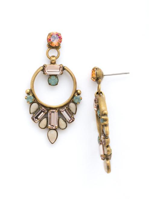 SORRELLI APRICOT AGATE- Spring OOAK Earrings~ EDK49AGAP