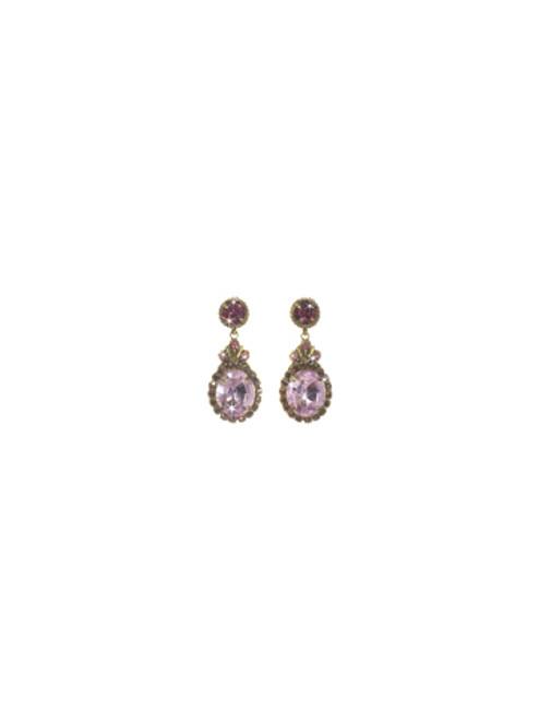 Sorrelli Pink Orchid- Solar Sparkle Earrings~ ECJ2AGPOR