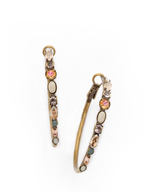 SORELLI APRICOT AGATE- Shine On Hoop Earrings~ EDK26AGAP