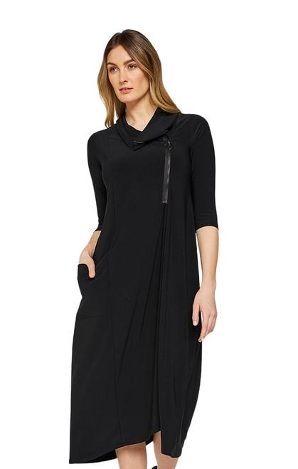 Zest Pocket Dress by Sympli~28119-Black