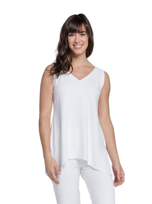 sleeveless mimic top by sympli 2172 is WHITE