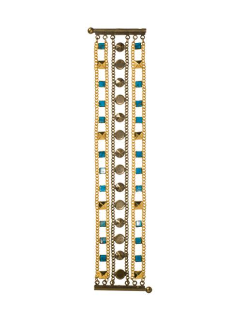 Sorrelli AZTEC- Layered Turquoise Pyramid Bracelet~ 4BH5MXAZT