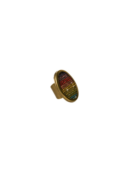 Sorrelli AZTEC- Rainbow Rhinestone Pave Ring~ 4RH7AGAZT