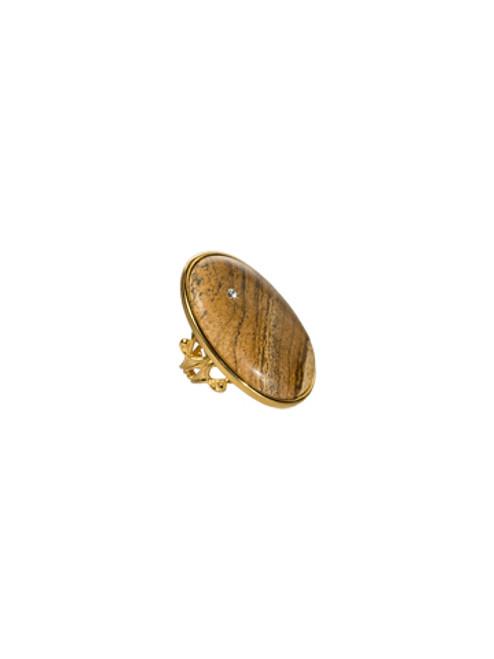 Sorrelli AZTEC- Large Oval Desert Jasper Ring~ 4RH6BGAZT