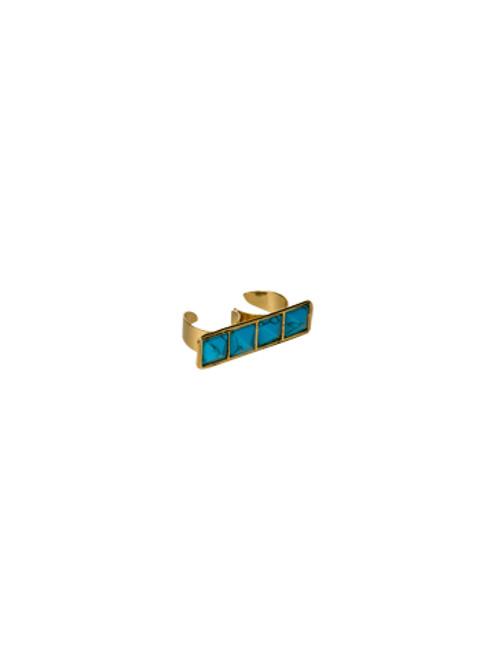 Sorrelli AZTEC- Double Turquoise Pyramid Ring~ 4RH3BGAZT