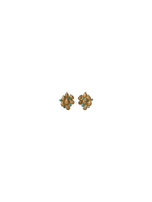 Sorrelli AZTEC- Desert Jasper and Turquoise Cluster Stud Earrings~ 4EH14BGAZT