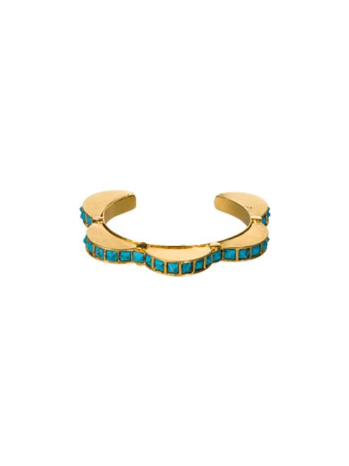 Sorrelli AZTEC- Rounded Turquoise Cuff Bracelet~ 4BH30BGAZT