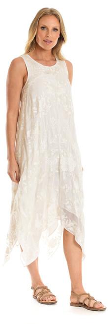 "Tolani ""Shelley""Ivory Floral Dress~20103-A"