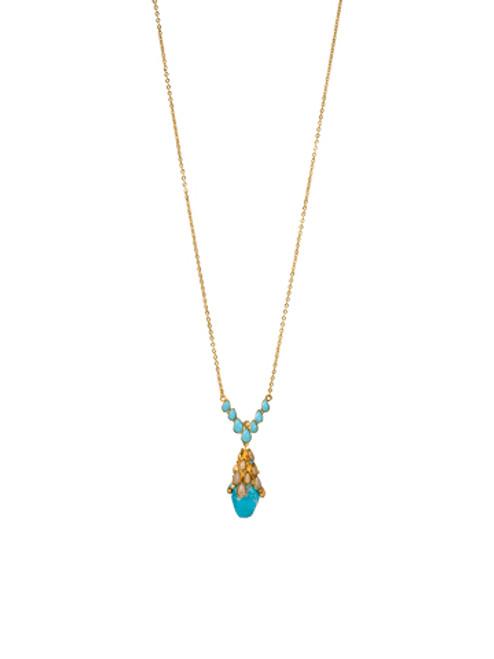 Sorrelli AZTEC- Hidden Gem Pendant Necklace~ 4NH1BGAZT