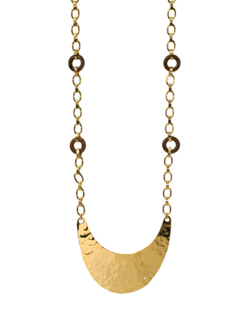 Sorrelli AZTEC- Crescent Moon Sheet Long Strand Necklace~ 4NH17BGAZT