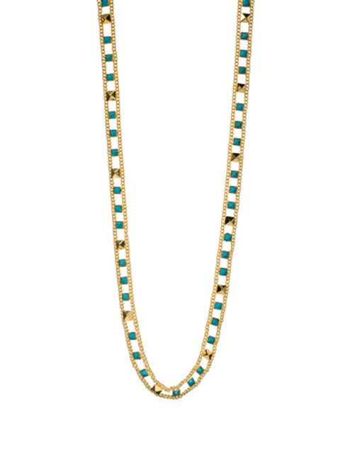 Sorrelli AZTEC- Turquoise Ladder Long Strand Necklace~ 4NH3BGAZT