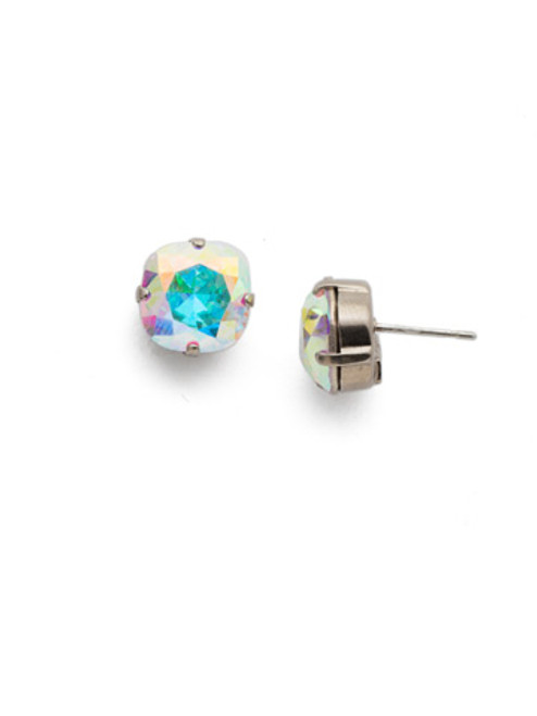 Sorrelli Crystal Aurora Borealis- Halcyon Stud Earrings~ EDH25ASCAB