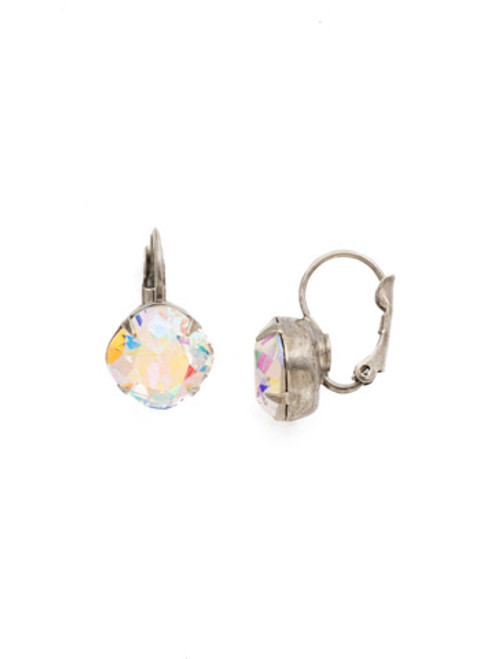 Sorrelli Crystal Aurora Borealis- Cushion Cut Dangle Earrings~ EDL12ASCAB