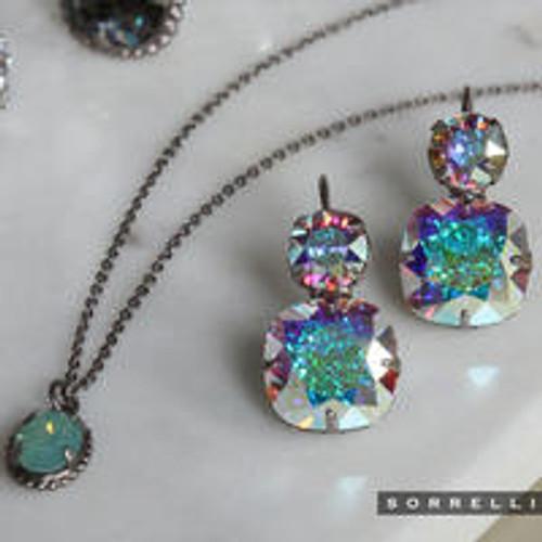 Sorrelli Crystal Aurora Borealis- On The Edge Dangle Earrings~ ECL4ASCAB