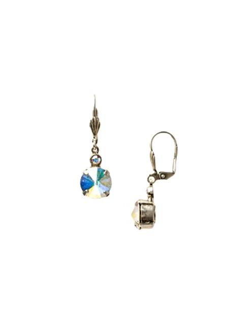 Sorrelli Crystal Aurora Borealis-Round Cut Dangle Earrings~ ECY55ASCAB