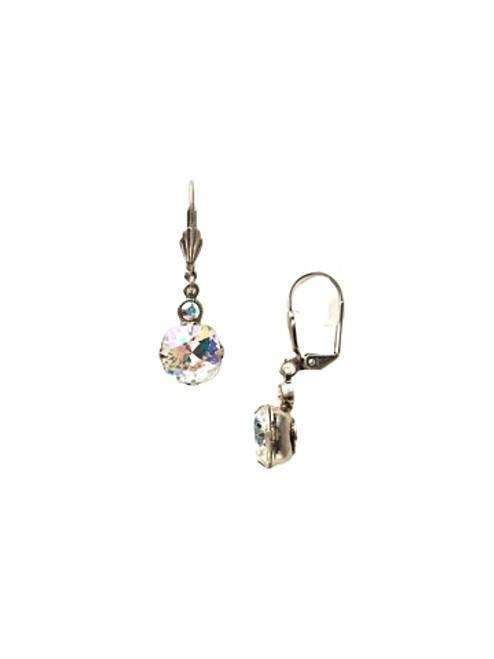 Sorrelli Crystal Aurora Borealis-Petite Cushion-Cut Dangle Earrings~ ECY56ASCAB