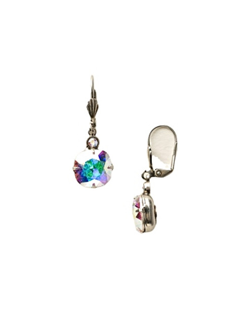Sorrelli Crystal Aurora Borealis-Medium Cushion-Cut Dangle Earrings~ ECY57ASCAB