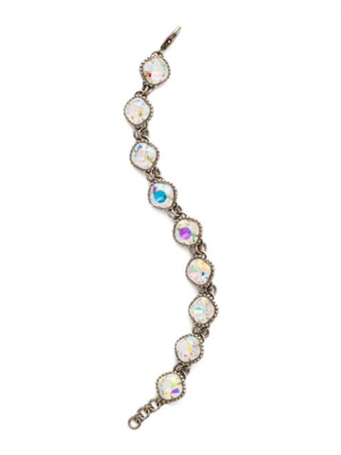 Sorrelli Crystal Aurora Borealis-Classic Cushion-Cut Line Bracelet~BDN24ASCAB
