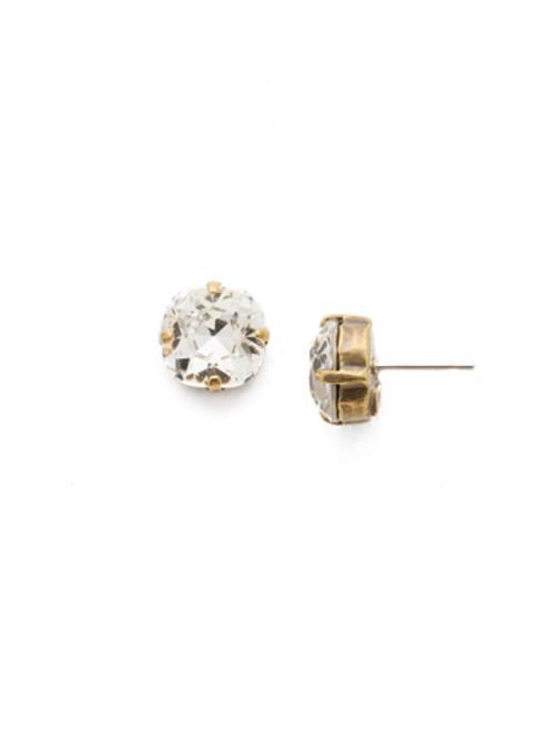 Sorrelli Antique Gold CRYSTAL- Halcyon Stud Earrings~ EDH25AGCRY