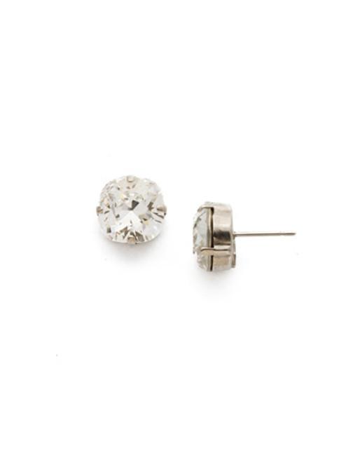 Sorrelli Antique Silver CRYSTAL- Halcyon Stud Earrings~ EDH25ASCRY