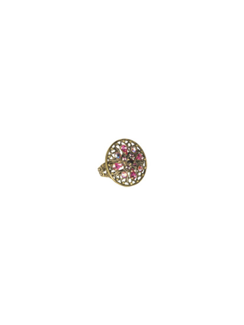 Sorrelli Pink Orchid- Dazzling Digits Crystal Ring~ RCP8AGPOR