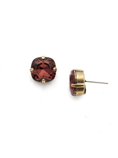 Sorrelli BURGUNDY- Halcyon Stud Earrings~ EDH25AGBUR